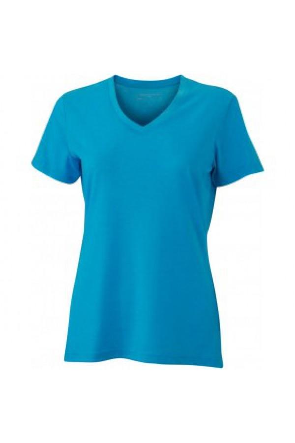 41e38772e9 Taboo Hungary - James & Nicholson Türkiz színű női V-nyakú póló