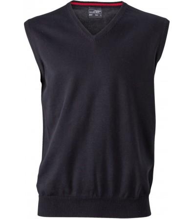 James & Nicholson sötétszürke színű Férfi V-nyakú ujjatlan pulóver