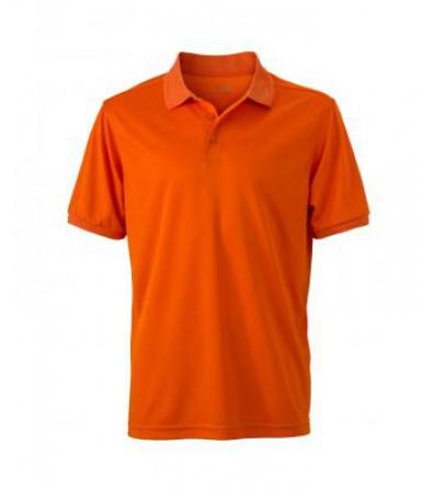 James & Nicholson Férfi narancssárga galléros póló