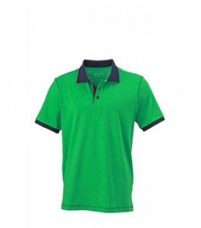 James & Nicholson Férfi Zöld galléros póló