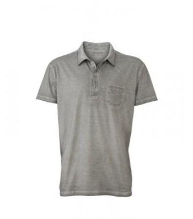 James & Nicholson Férfi szürke színű galléros póló