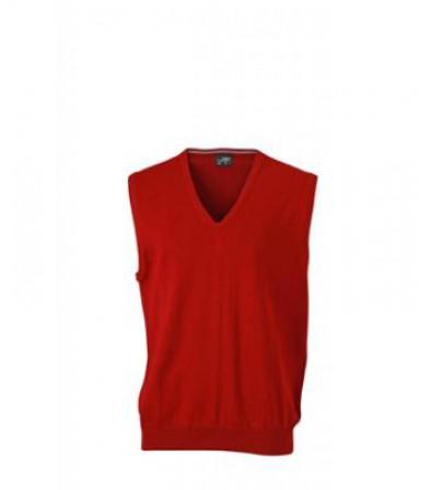James & Nicholson bordó színű Férfi V-nyakú ujjatlan pulóver