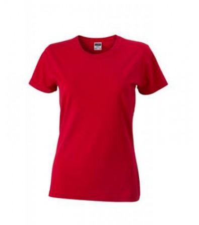 James & Nicholson Piros Női Slim Fit póló