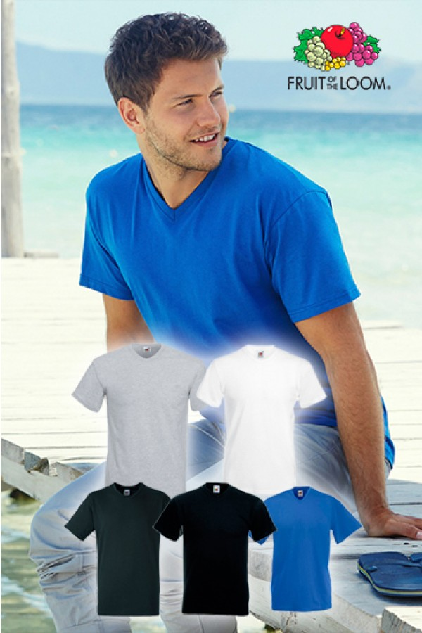5 db V-nyakú férfi póló