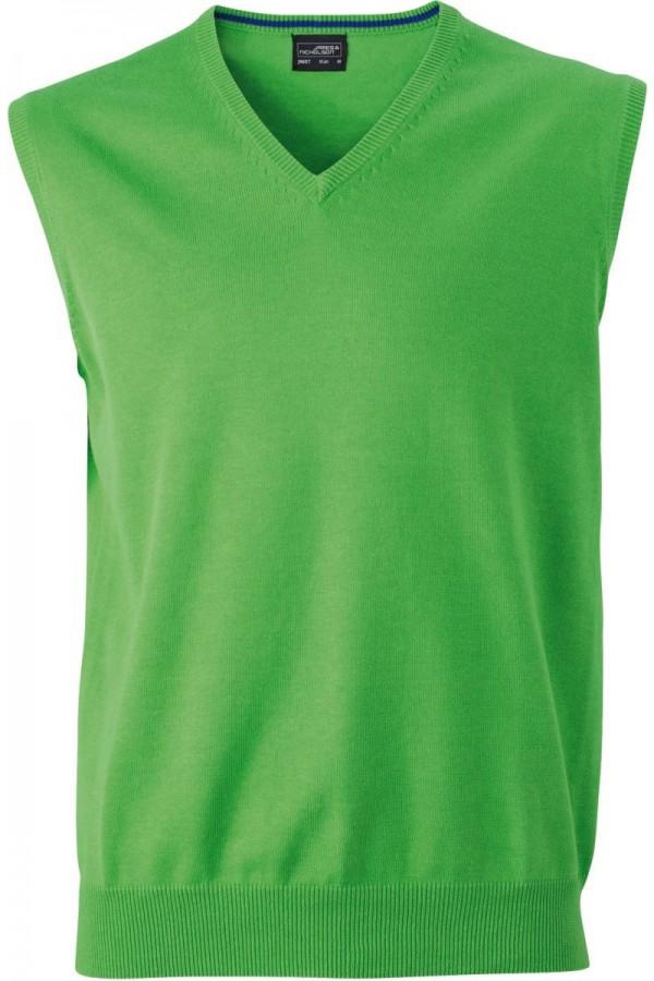 James & Nicholson Férfi V-nyakú ujjatlan pulóver zöld színű