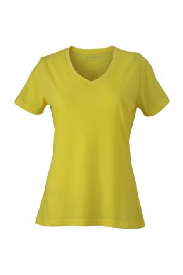 e16ec11f34 Taboo Hungary - James & Nicholson Sárga színű női V-nyakú póló