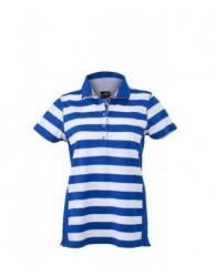 James & Nicholson kék Csíkos női galléros póló