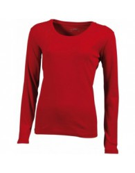 James & Nicholson Női piros színű Hosszú ujjú póló