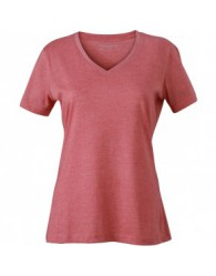 James & Nicholson Piros színű női V-nyakú póló