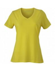 James & Nicholson Sárga színű női V-nyakú póló