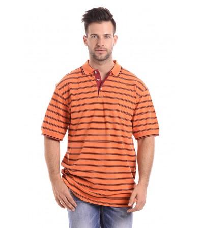 Narancs Csíkos Piké Póló