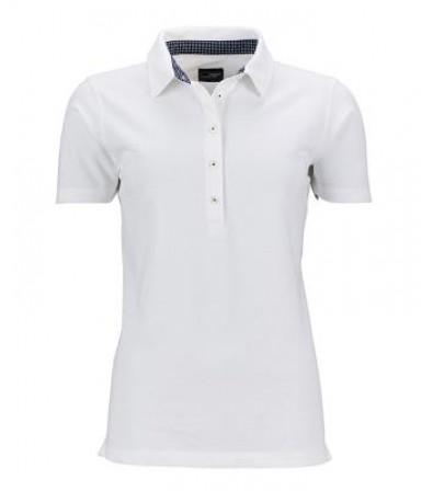James & Nicholson fehér női galléros póló