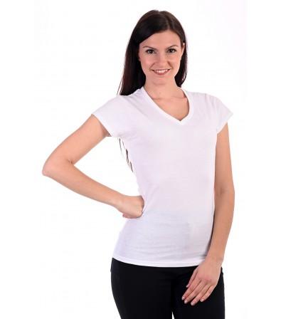 Fruit of the Loom Karcsúsított fehér női póló