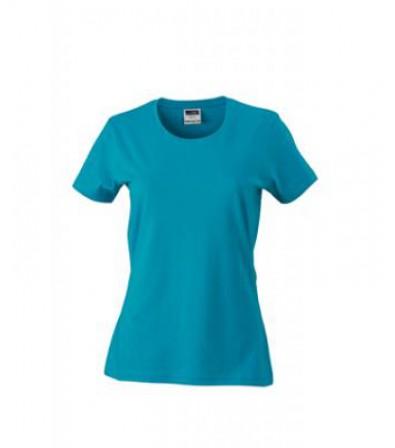 James & Nicholson türkiz Női Slim Fit póló