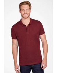 Több színben Férfi pöttyös Galléros Pólók