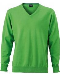James & Nicholson Férfi V-nyakú Pulóver zöld színben