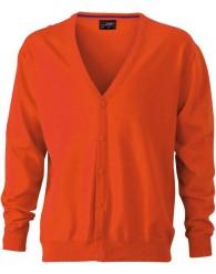 James & Nicholson narancs színű Férfi V-nyakú Kardigán