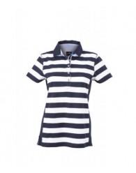 James & Nicholson sötétkék Csíkos női galléros póló