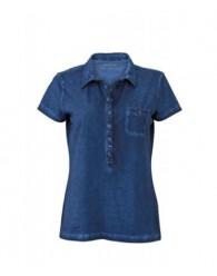 James & Nicholson női sötétkék színű galléros póló