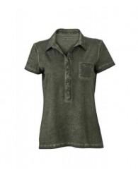 James & Nicholson női olivazöld színű galléros póló