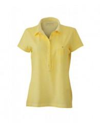 James & Nicholson női sárga színű galléros póló