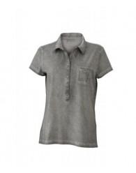 James & Nicholson női szürke színű galléros póló