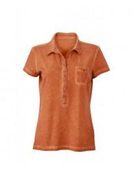 James & Nicholson női narancs színű galléros póló