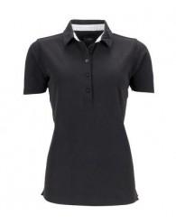 James & Nicholson fekete női galléros póló