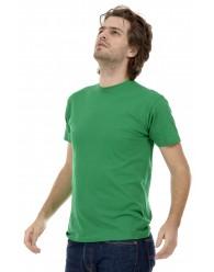 Férfi Rövid Ujjú Póló Közép Zöld