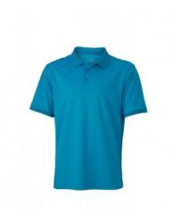 James & Nicholson Férfi türkiz színű galléros póló
