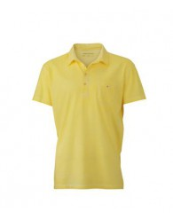 James & Nicholson Férfi sárga galléros póló