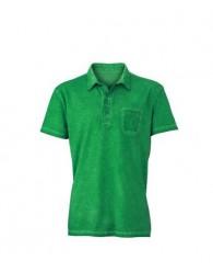 James & Nicholson Férfi zöld színű galléros póló