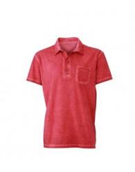 James & Nicholson Férfi piros színű galléros póló