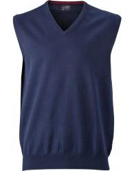 James & Nicholson sötétkék színű Férfi V-nyakú ujjatlan pulóver