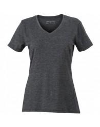 James & Nicholson Sötétszürke színű női V-nyakú póló