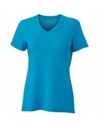 James & Nicholson Türkiz színű női V-nyakú póló