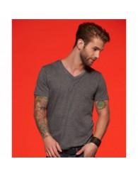 James & Nicholson Sötétszürke színű Férfi V-nyakú póló