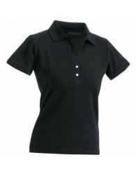 James & Nicholson fekete Női elasztikus Piqué Polo
