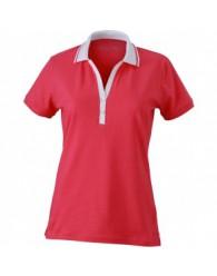 James & Nicholson Rózsaszín Női elasztikus Piqué Polo