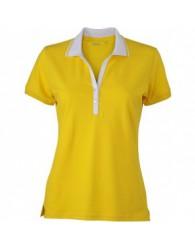 James & Nicholson Sárga Női elasztikus Piqué Polo