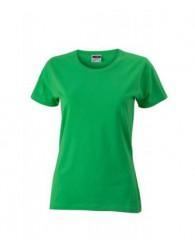 James & Nicholson Zöld színű Női Slim Fit póló