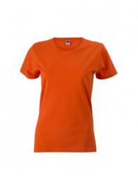 James & Nicholson naracssárga Női Slim Fit póló