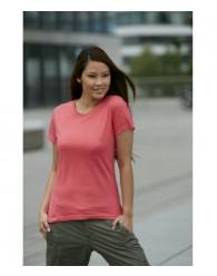 James & Nicholson Rózsaszín Női Slim Fit póló